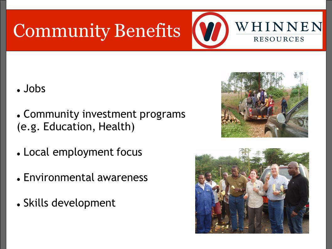 Community Benefits Jobs Community investment programs