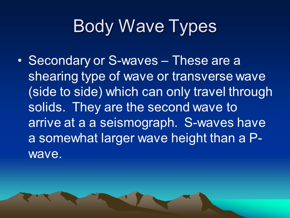 Body Wave Types