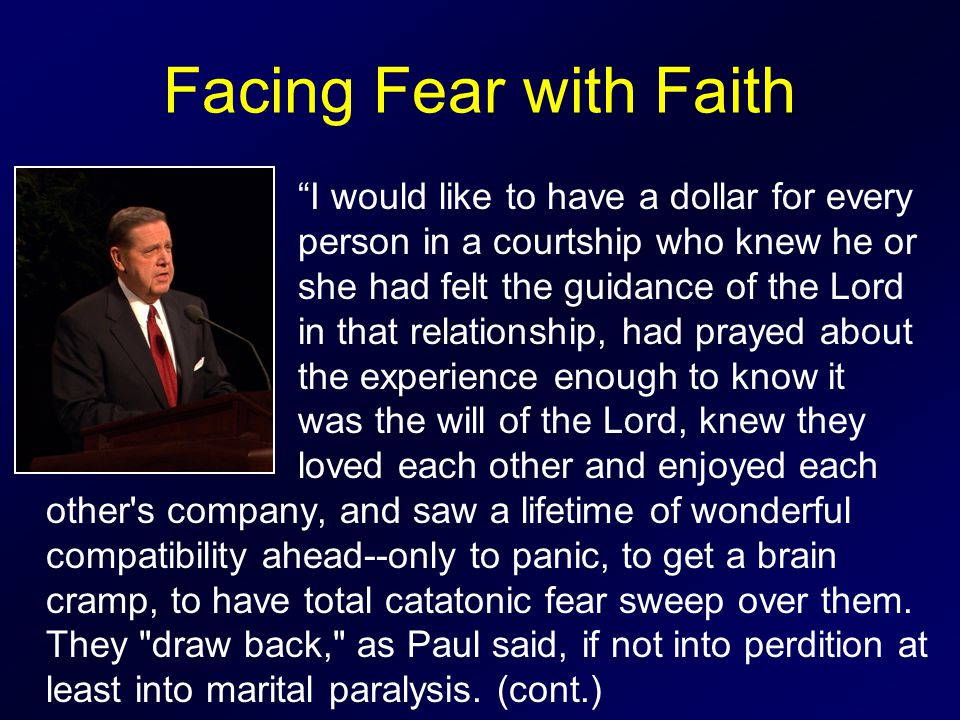 Facing Fear with Faith