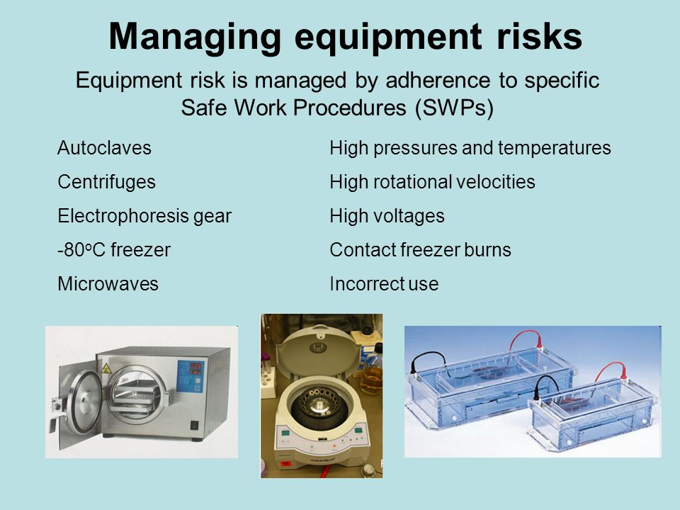 Managing equipment risks