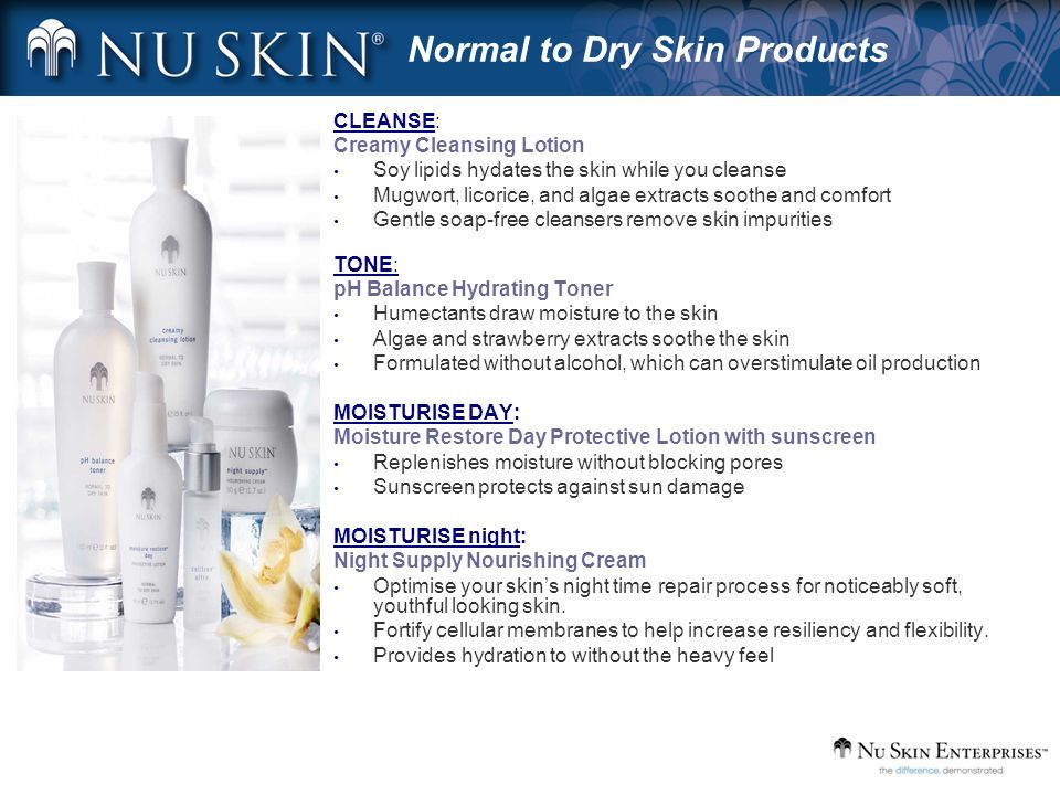 Normal to Dry Skin Products