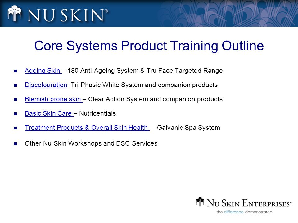 Core Systems Product Training Outline