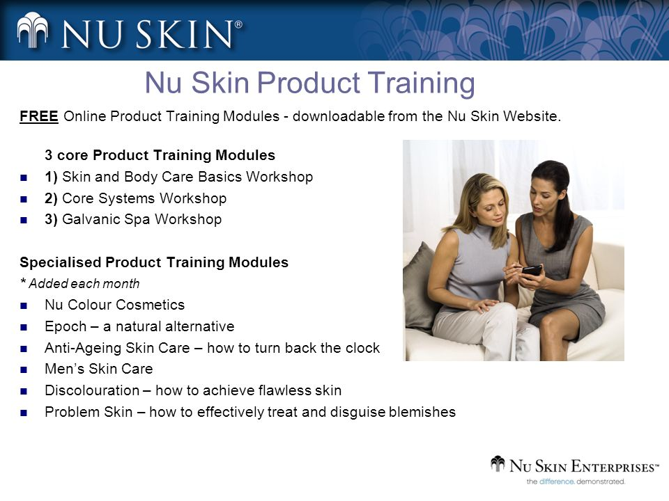 Nu Skin Product Training