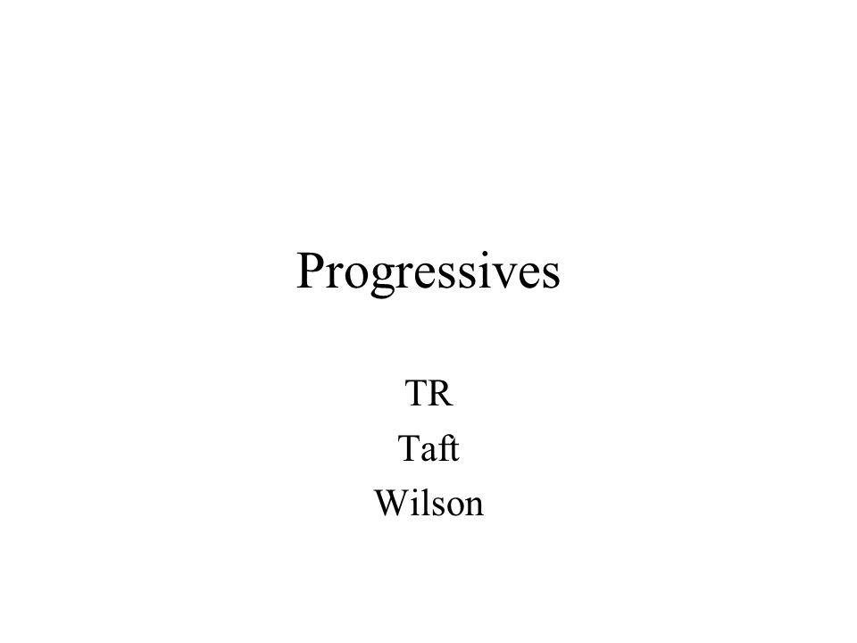 Progressives TR Taft Wilson