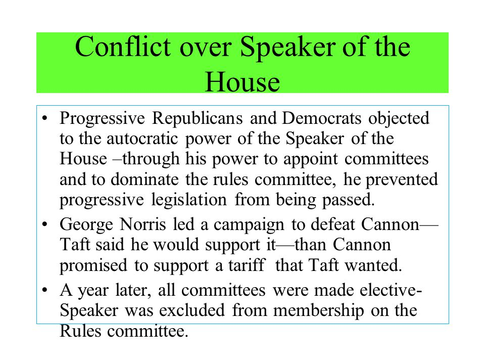 Conflict over Speaker of the House