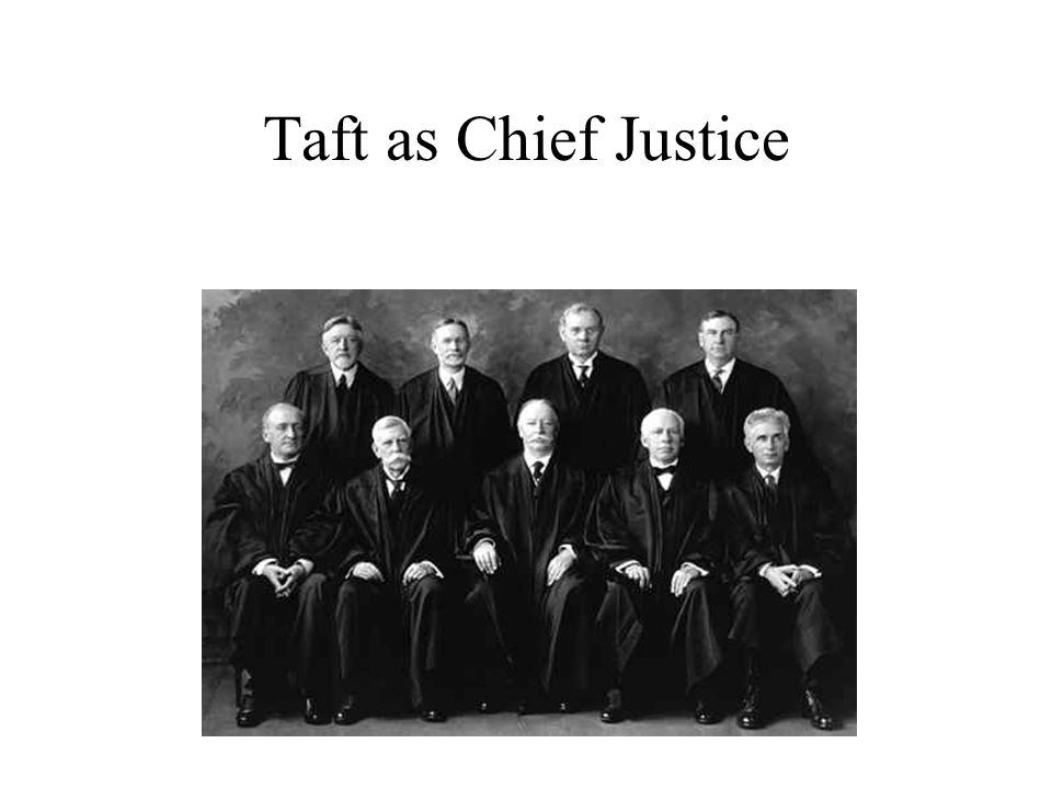 Taft as Chief Justice