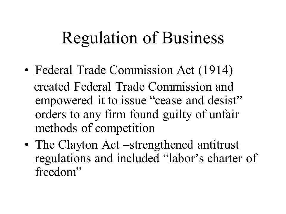 Regulation of Business