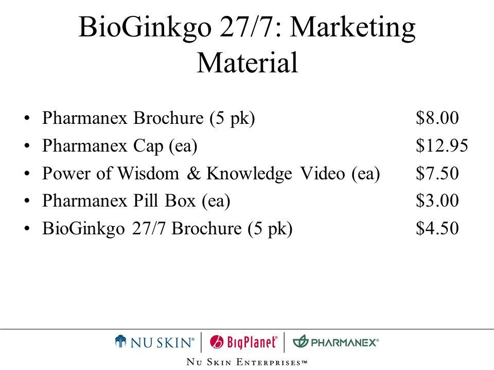 BioGinkgo 27/7: Marketing Material