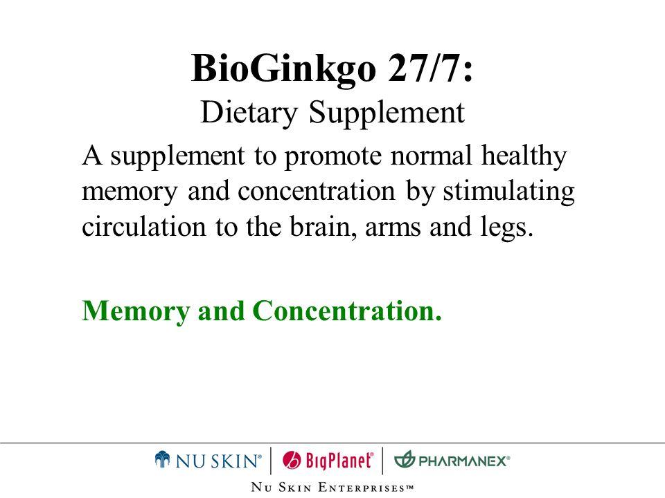 BioGinkgo 27/7: Dietary Supplement