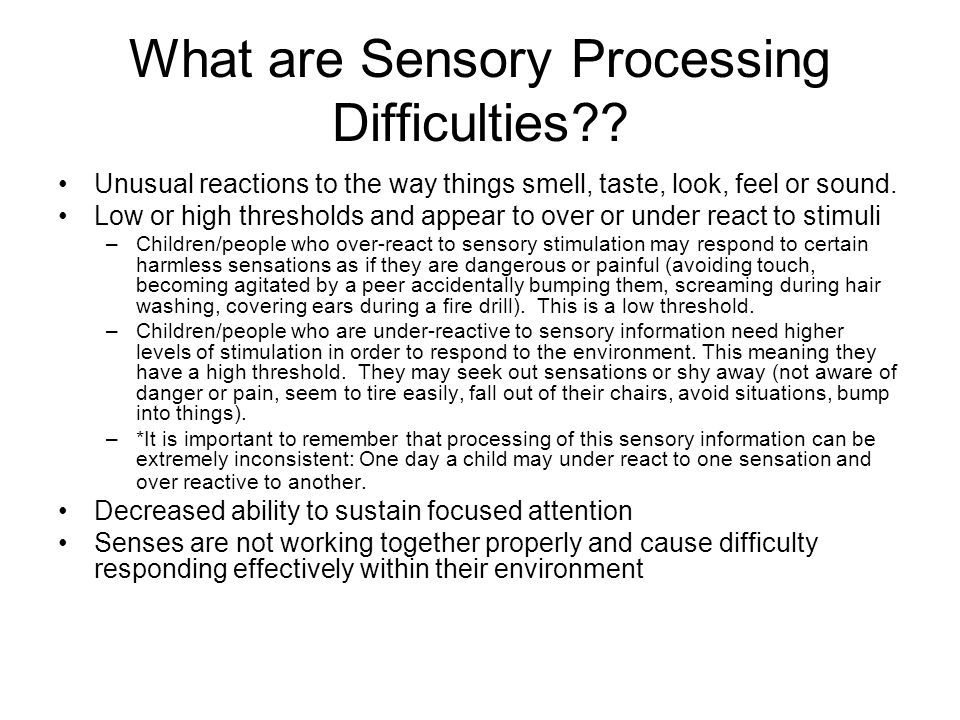 What are Sensory Processing Difficulties