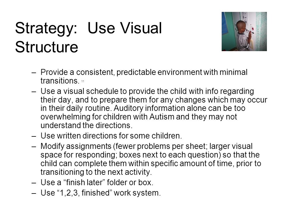 Strategy: Use Visual Structure