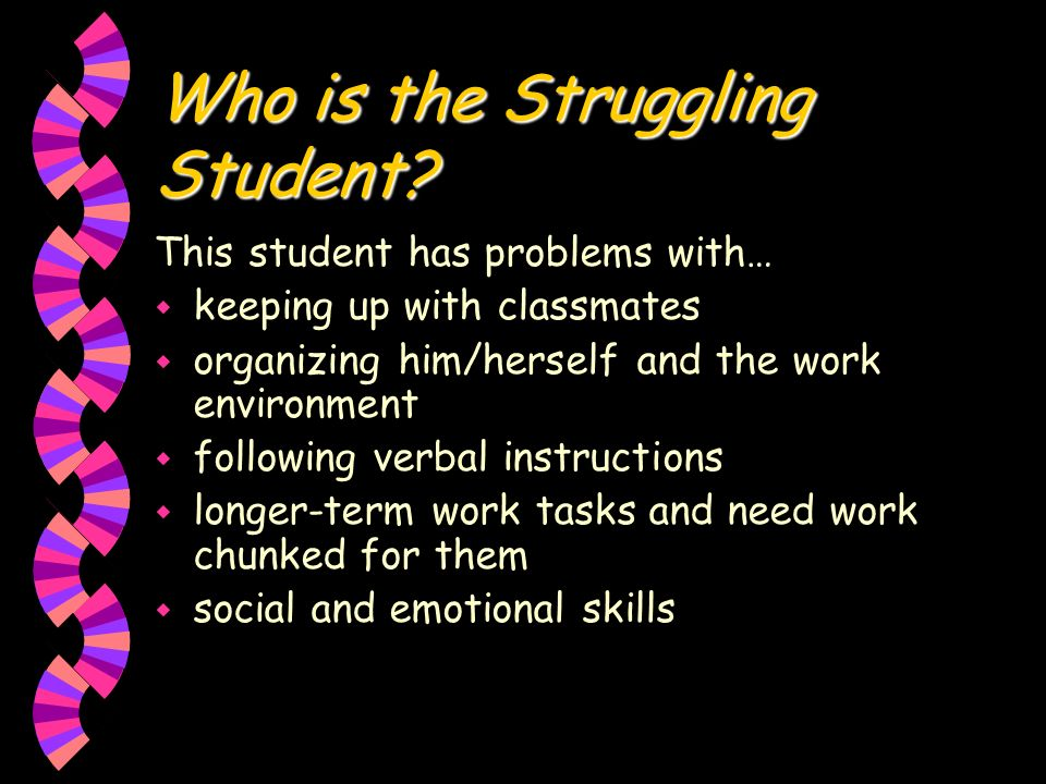 Who is the Struggling Student