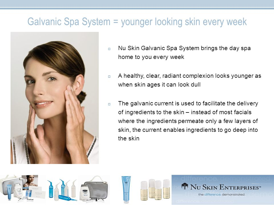 Galvanic Spa System = younger looking skin every week