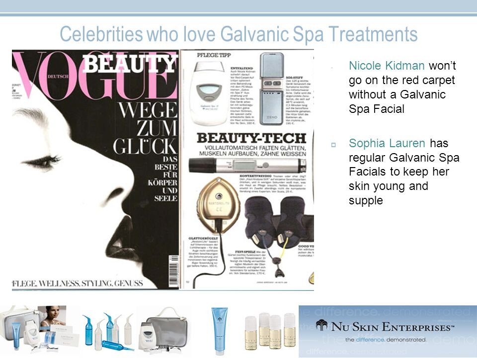 Celebrities who love Galvanic Spa Treatments