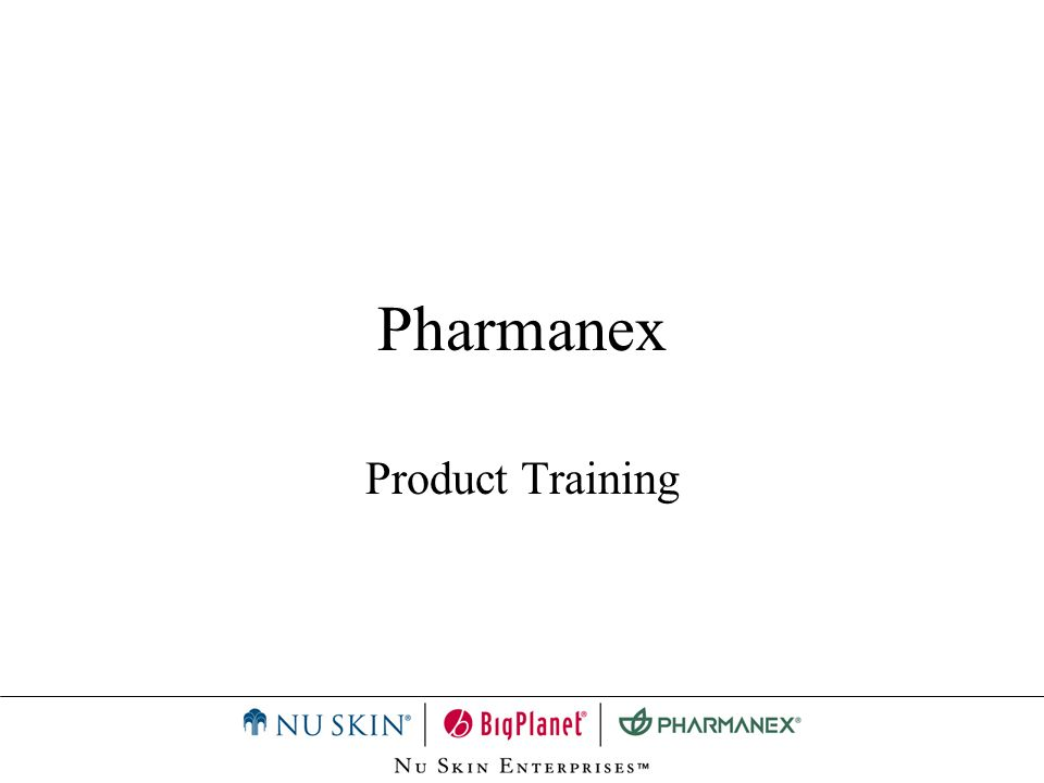 Pharmanex Product Training