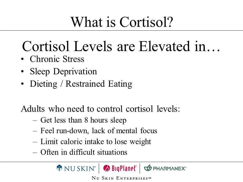 Cortisol Levels are Elevated in…