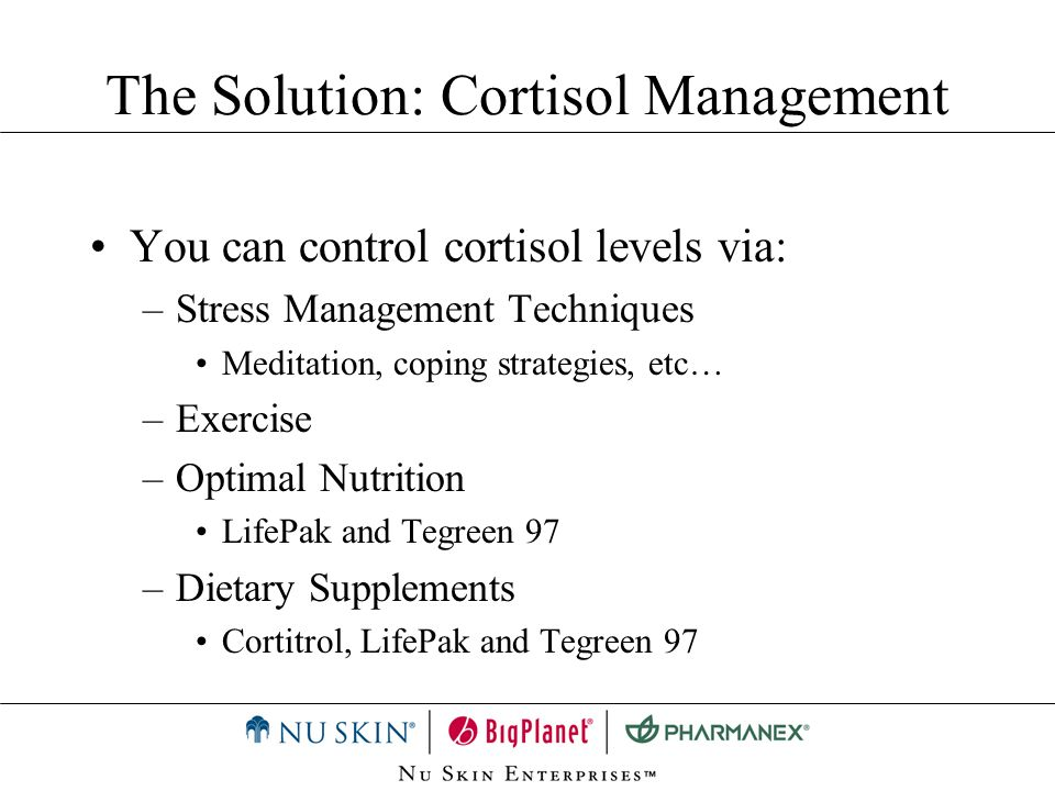 The Solution: Cortisol Management