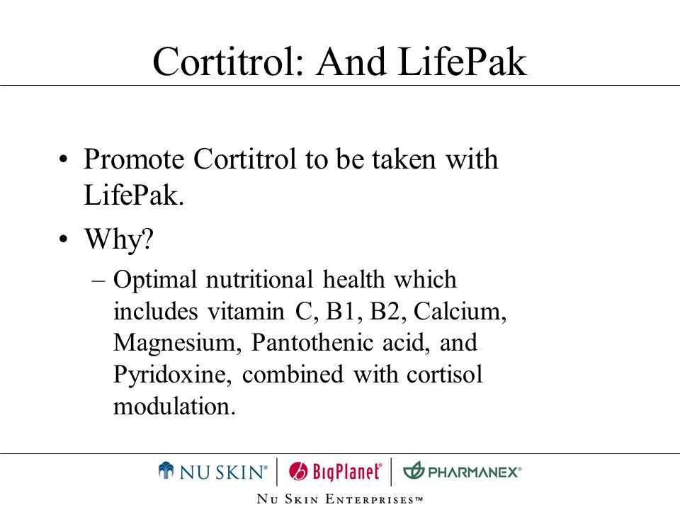 Cortitrol: And LifePak