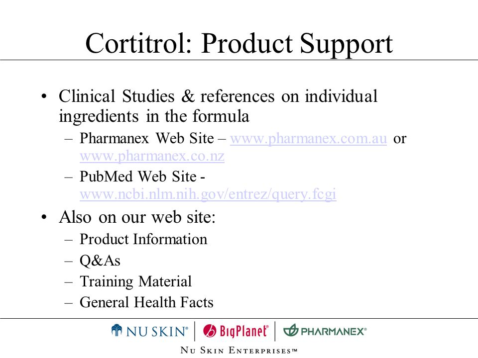 Cortitrol: Product Support