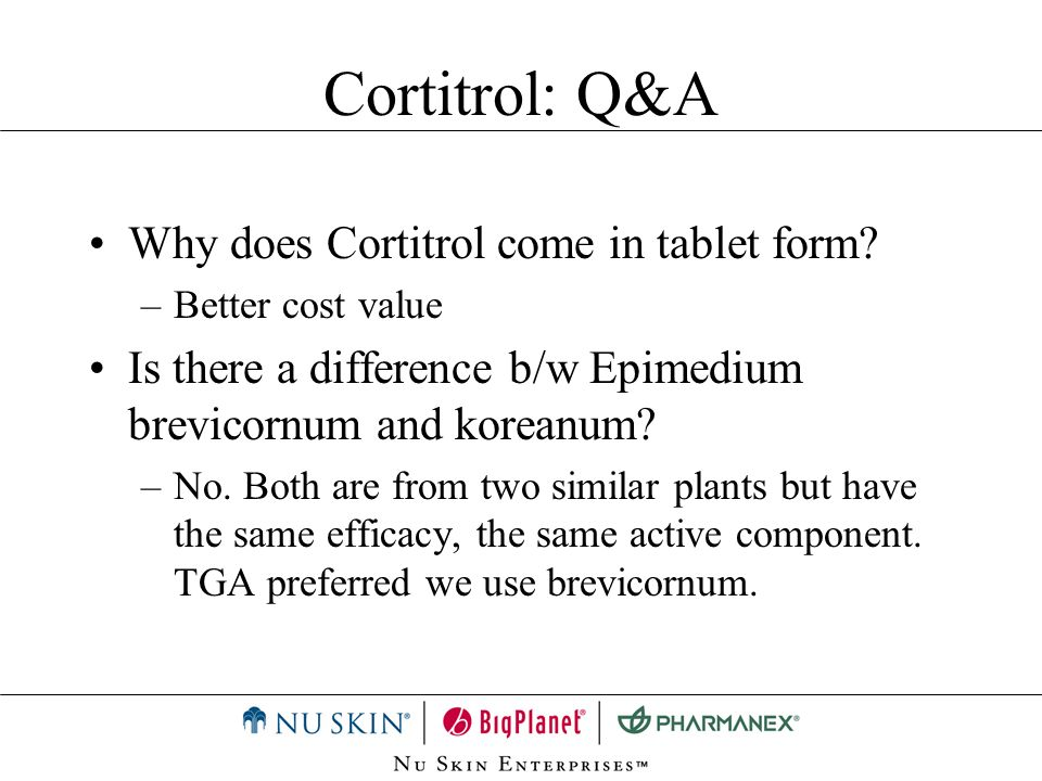 Cortitrol: Q&A Why does Cortitrol come in tablet form