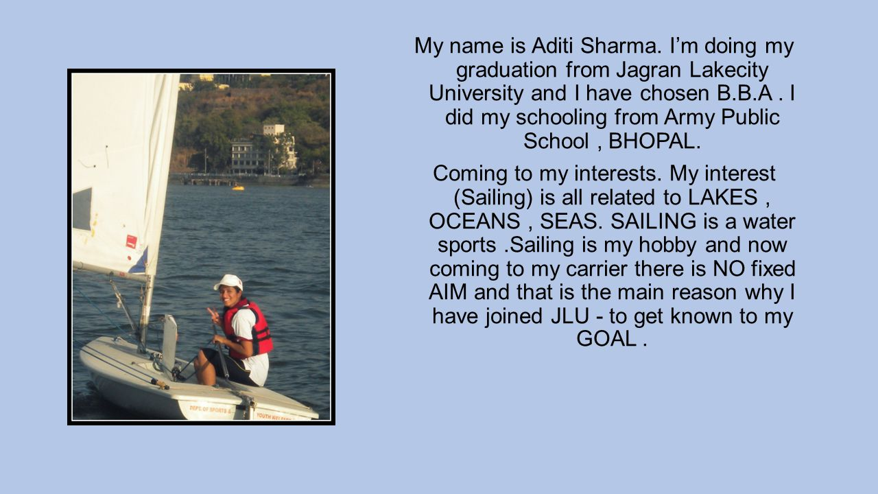 My name is Aditi Sharma.