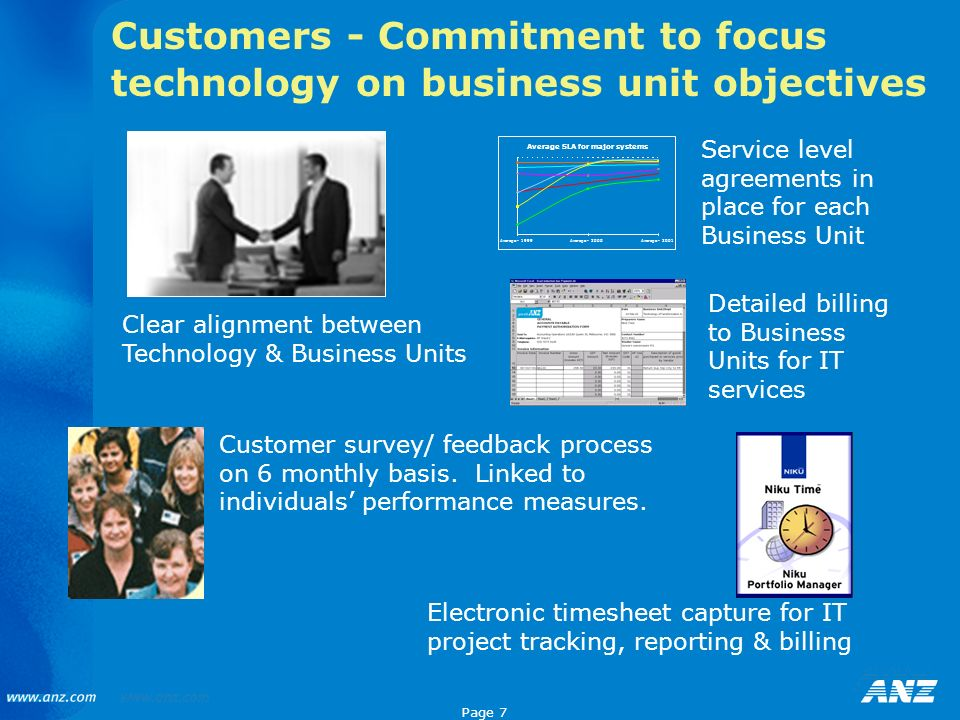 Customers - Commitment to focus technology on business unit objectives