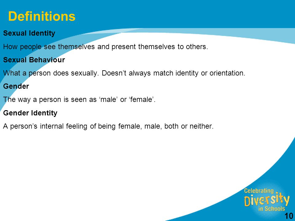 Definitions Sexual Identity
