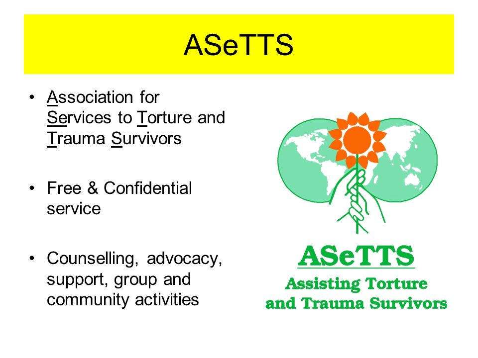 ASeTTS Association for Services to Torture and Trauma Survivors