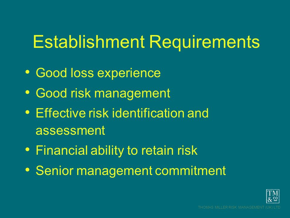 Establishment Requirements
