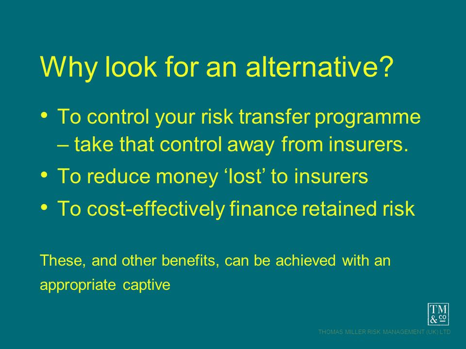 Why look for an alternative