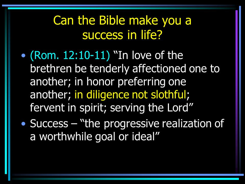 Can the Bible make you a success in life