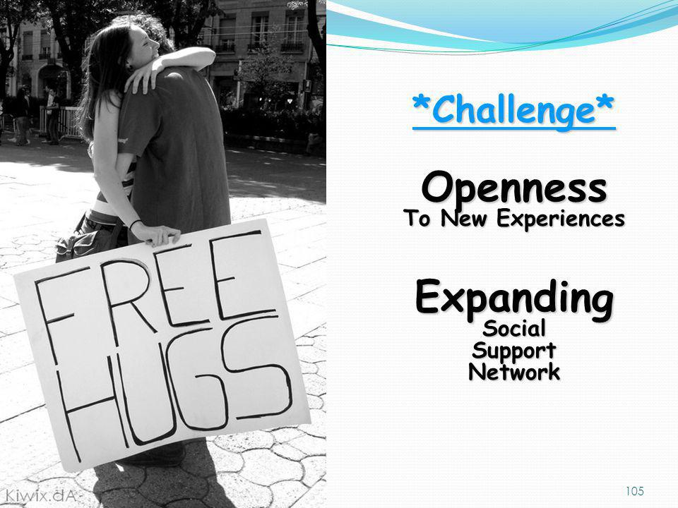 Openness Expanding *Challenge* To New Experiences Social Support