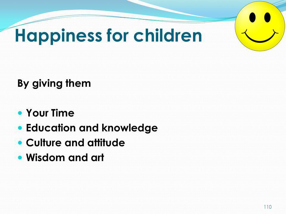 Happiness for children