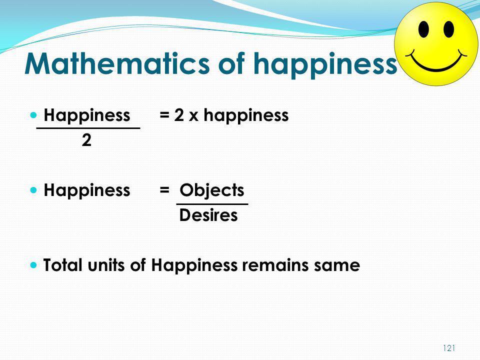 Mathematics of happiness