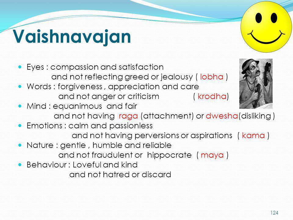Vaishnavajan Eyes : compassion and satisfaction