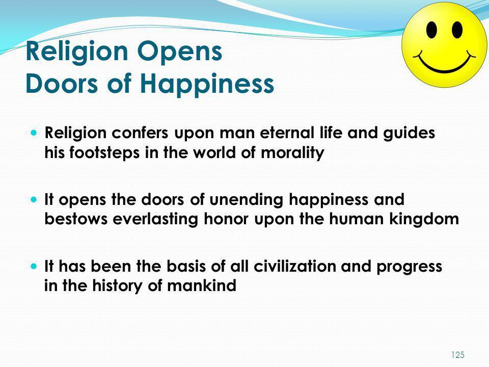Religion Opens Doors of Happiness
