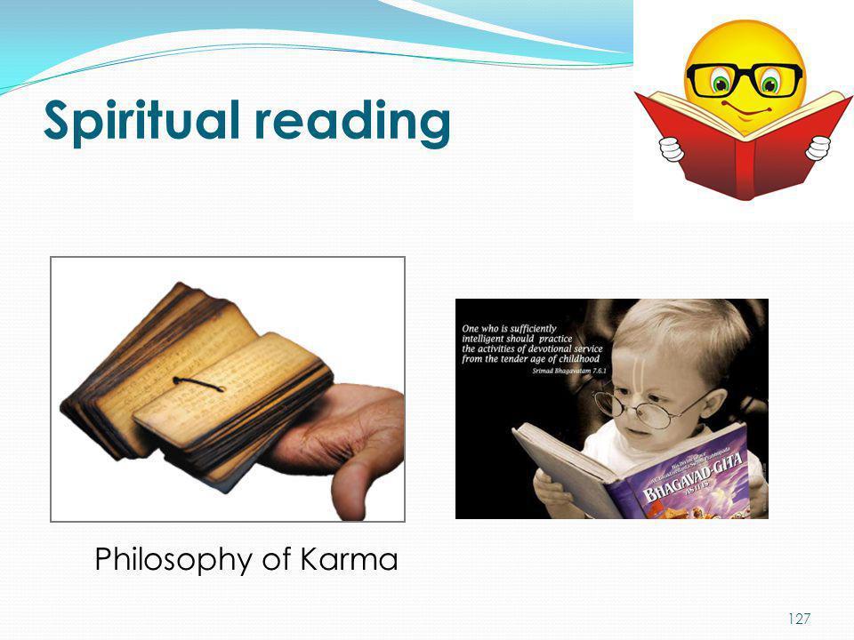 Spiritual reading Philosophy of Karma