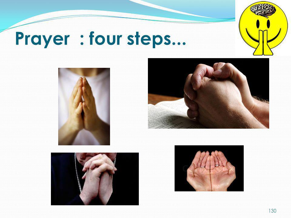 Prayer : four steps...