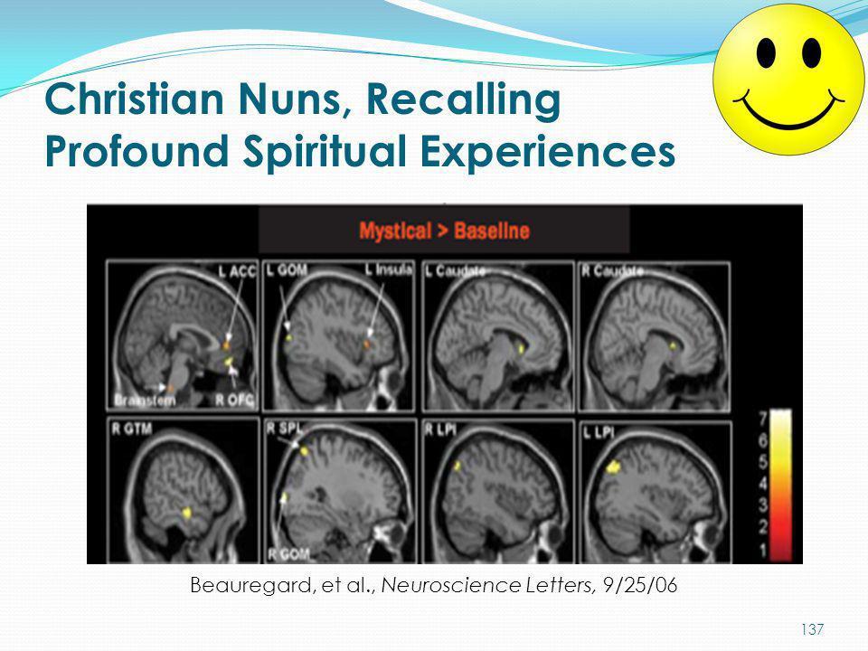 Christian Nuns, Recalling Profound Spiritual Experiences