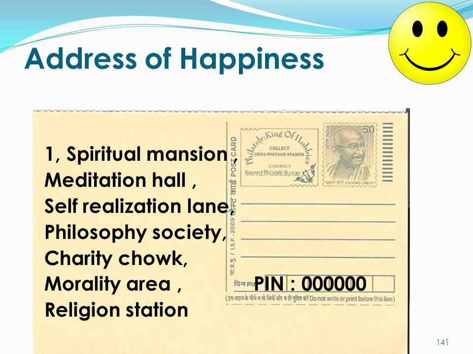Address of Happiness
