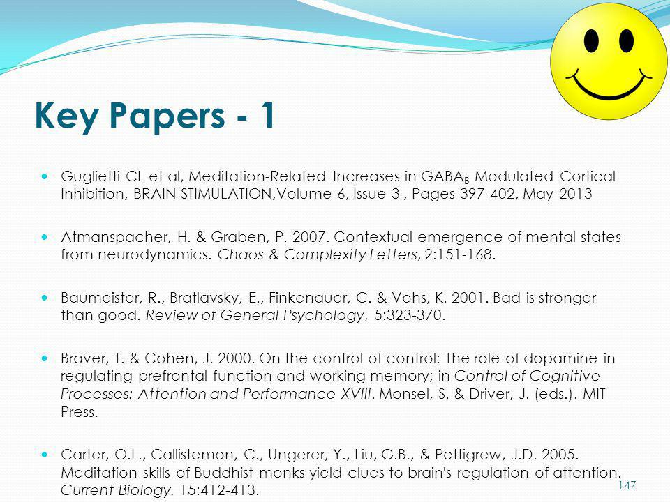 Key Papers - 1