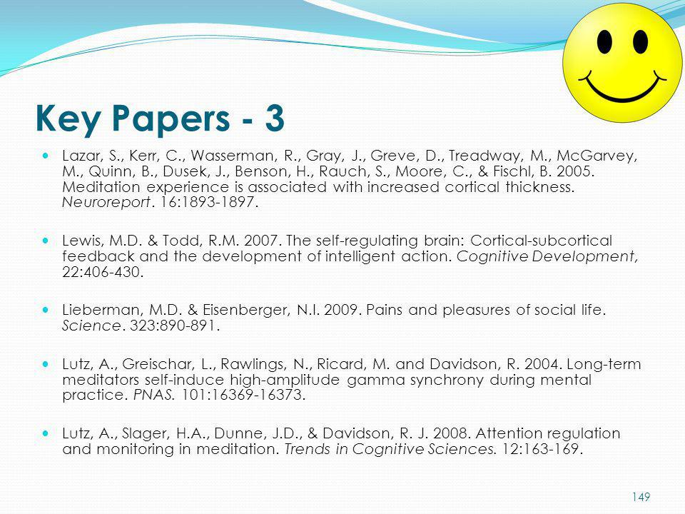Key Papers - 3