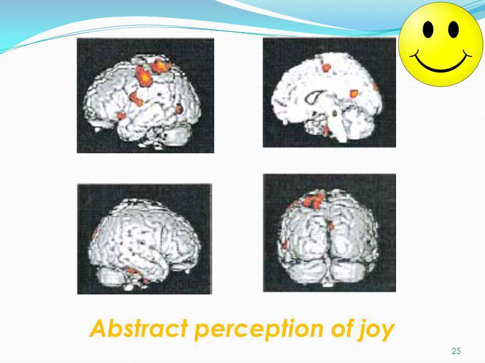 Abstract perception of joy