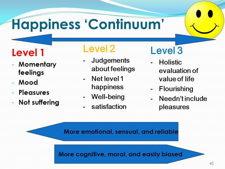 Happiness 'Continuum'