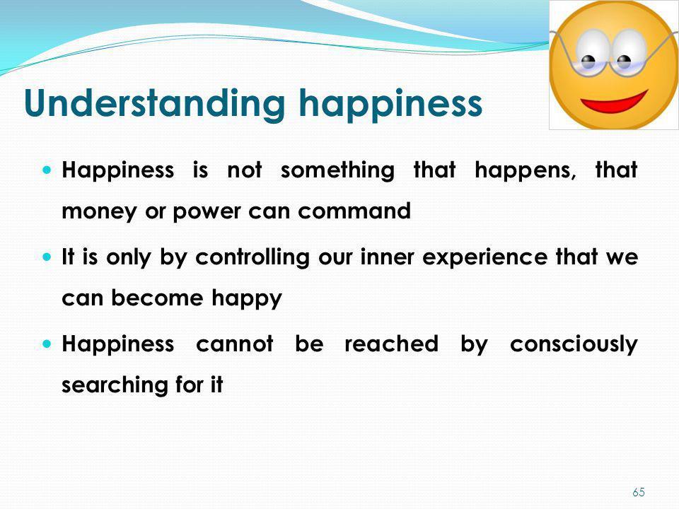 Understanding happiness