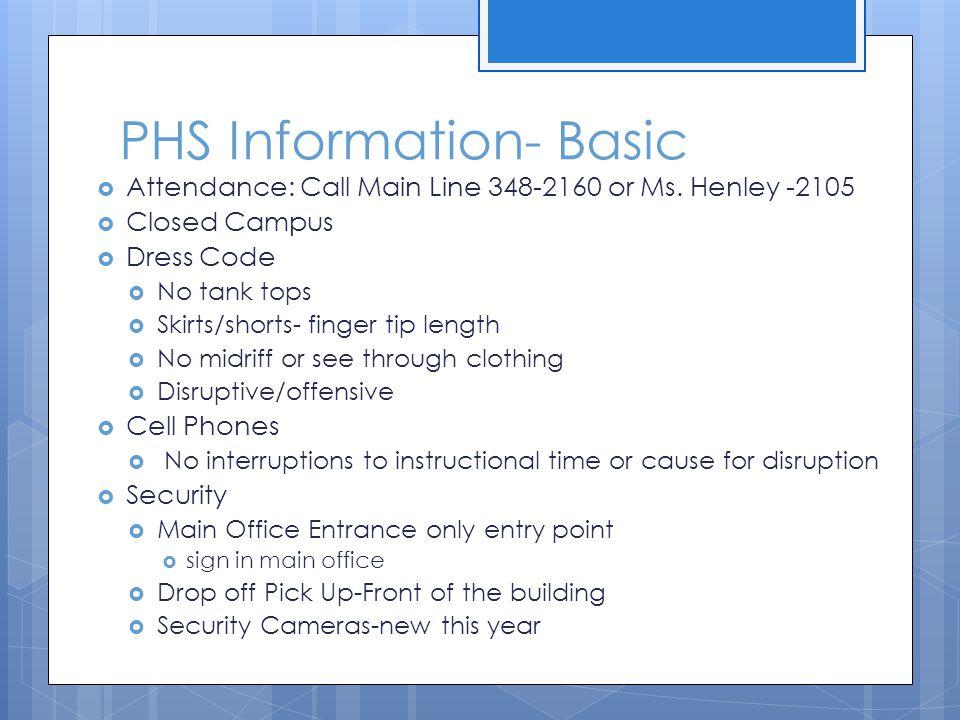 PHS Information- Basic