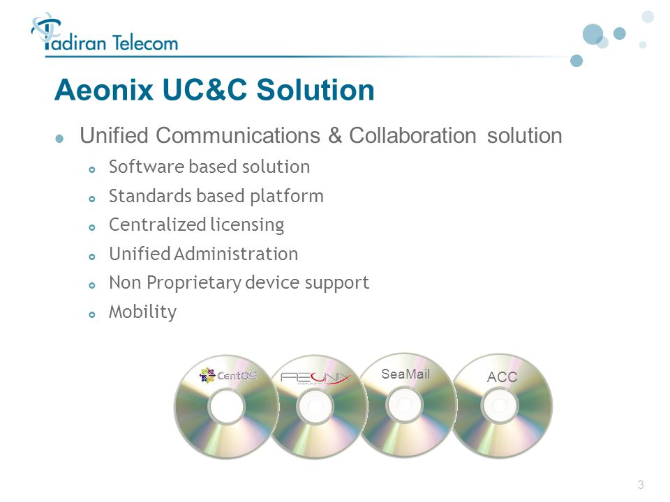 Aeonix UC&C Solution Unified Communications & Collaboration solution