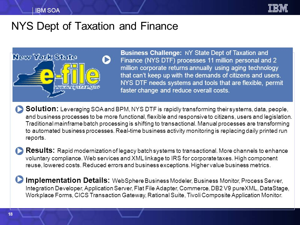 NYS Dept of Taxation and Finance
