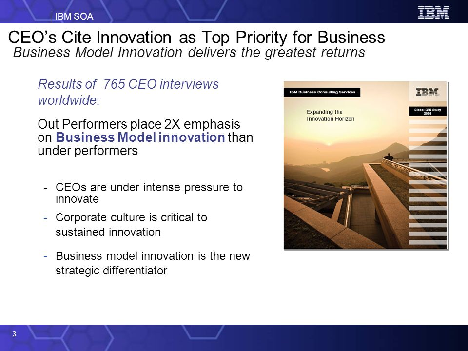 CEO's Cite Innovation as Top Priority for Business