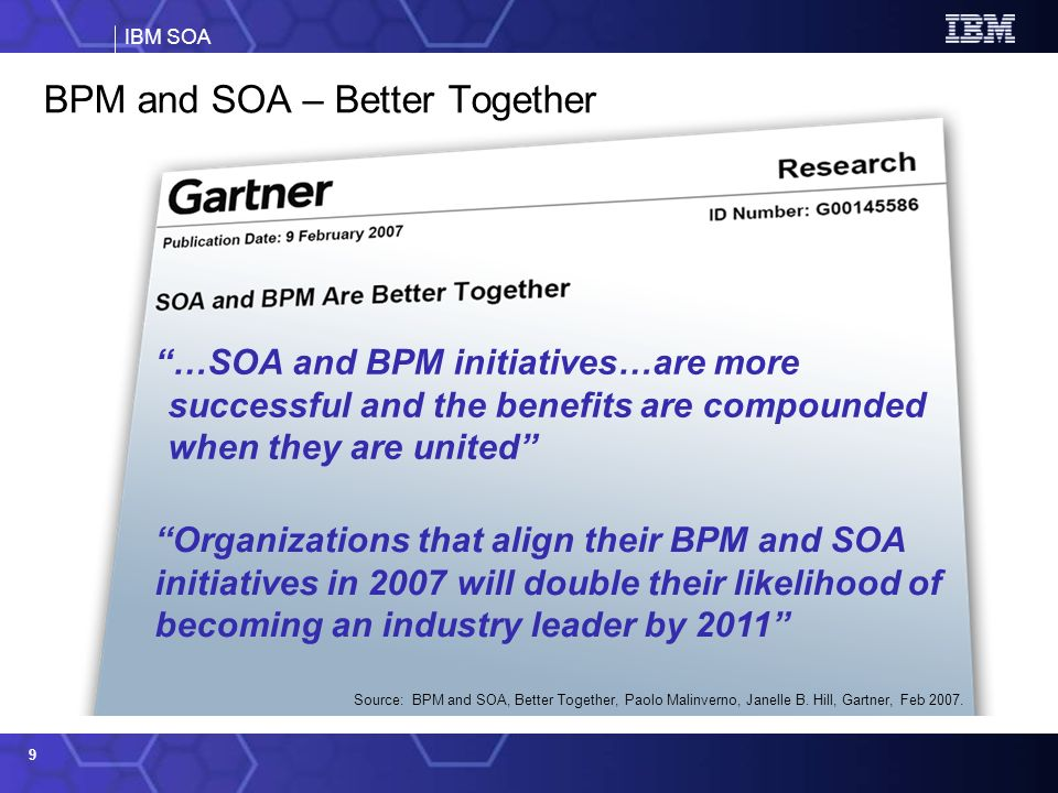 BPM and SOA – Better Together